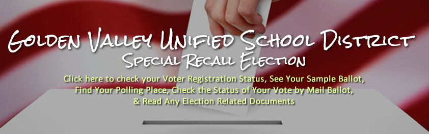 Golden Valley Unified School District Special Recall Election